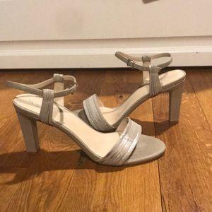 Silver 3 1/2 inch heels